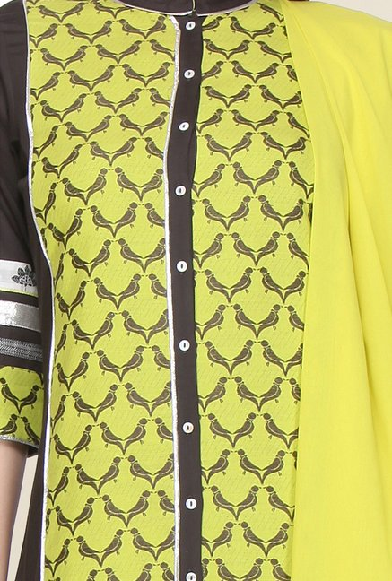 W Green Printed Kurta