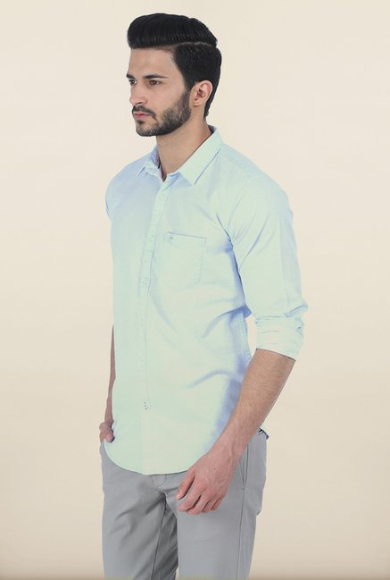 Basics Light Blue Slim Fit Shirt