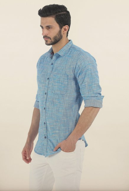 Basics Aquarius Twill Slim Fit Shirt