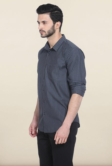 Basics Moonless Night Fila Fil Striped Slim Fit Shirt