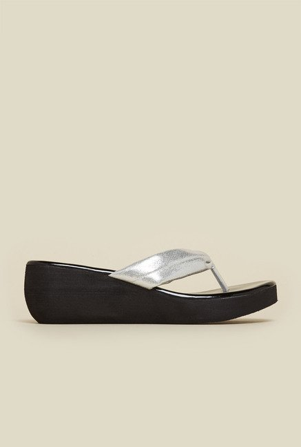 Inc.5 Silver Wedge Sandals