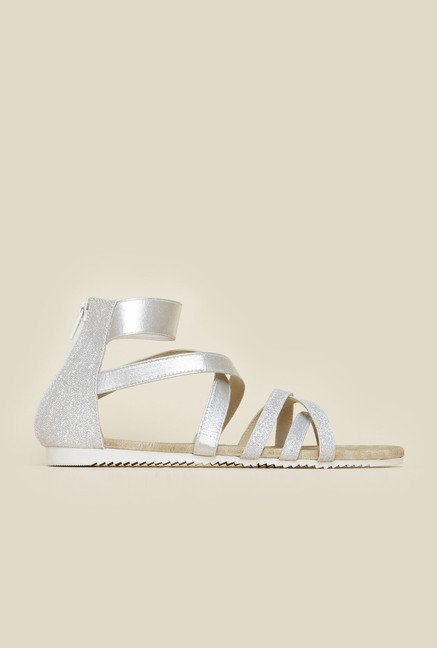 Inc.5 Silver Gladiator Sandals