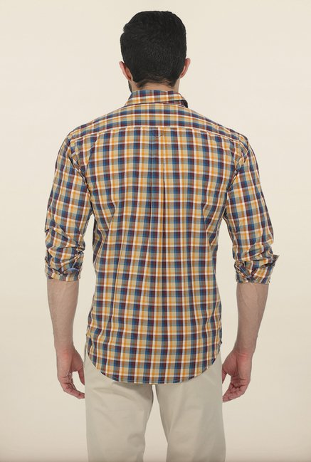 Basics Nugget Checked Slim Fit Shirt