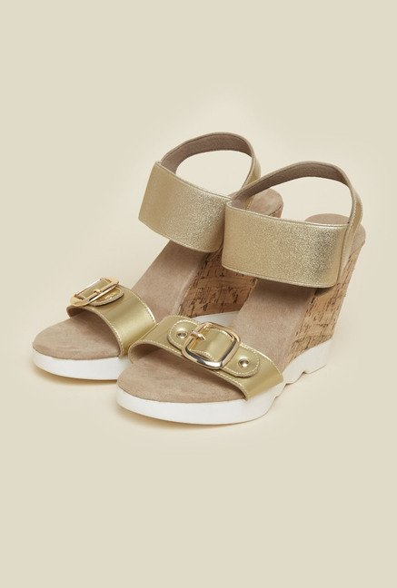Inc.5 Gold Ankle Strap Sandals