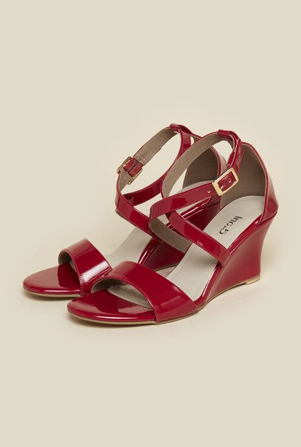 Inc.5 Red Ankle Strap Sandals
