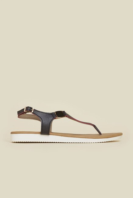 Inc.5 Black Back Strap Sandals