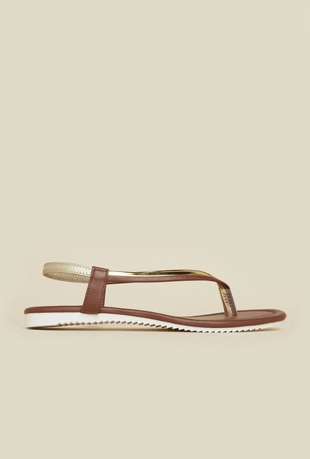 Inc.5 Brown Back Strap Sandals