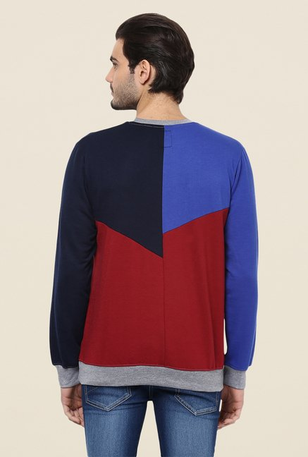 Yepme Camron Blue & Red Sweatshirt