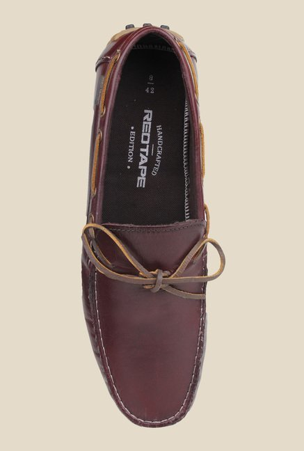 Red Tape Bordo Boat Shoes