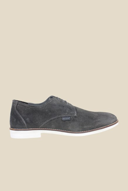 Red Tape Grey Derby Shoes