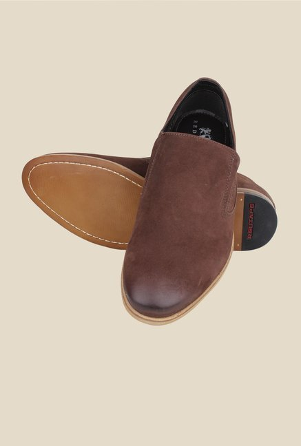 Red Tape Brown Casual Slip-Ons