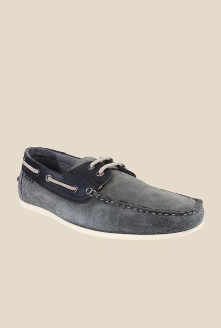 Red Tape Grey Boat Shoes