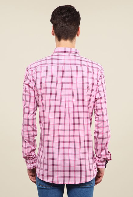 Yepme Pink Jameson Checked Shirt