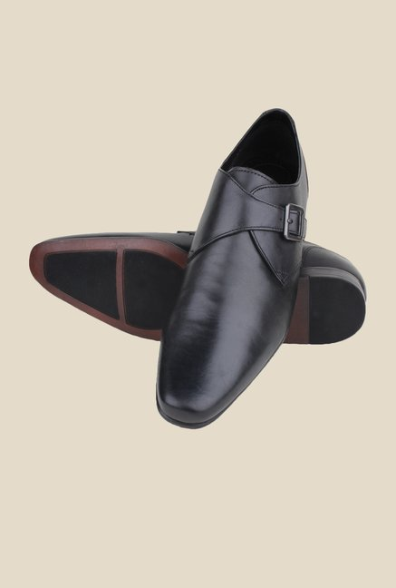 Red Tape Black Monk Shoes
