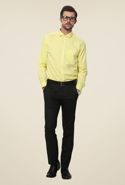 Yepme Yellow Kari Premium Solid Shirt