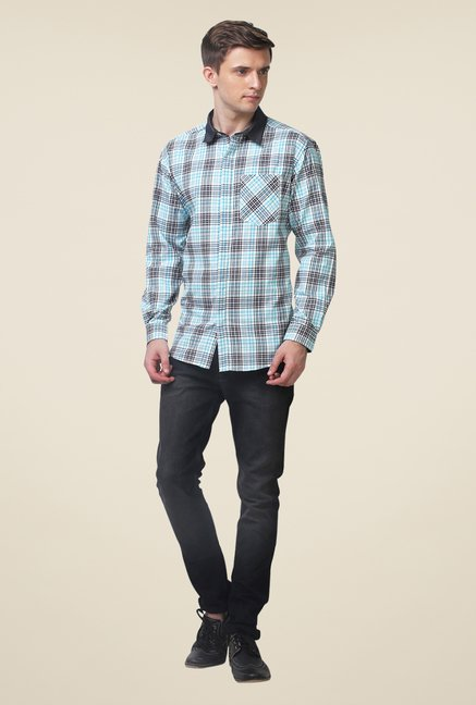 Yepme Blue Stefan Checked Shirt