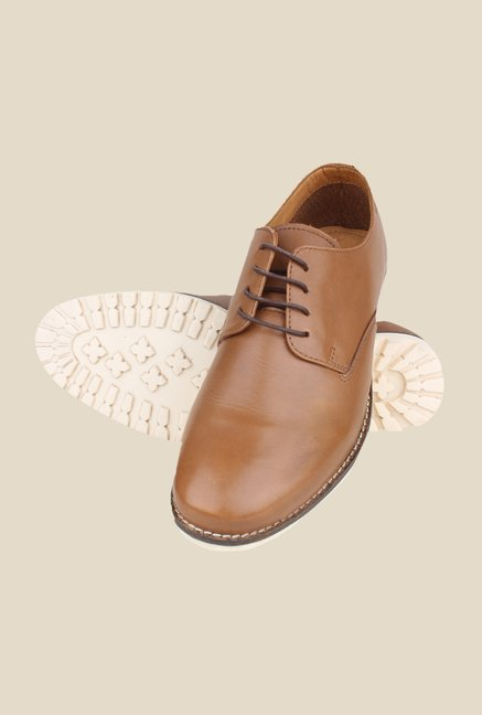 Red Tape Tan Derby Shoes