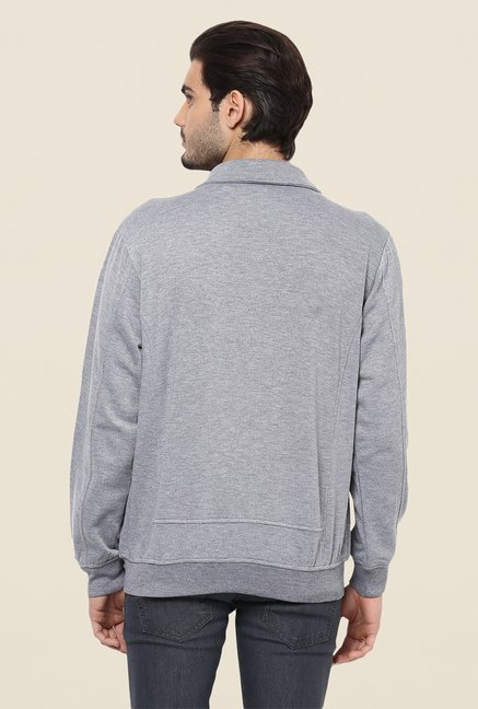 Yepme Nick Grey Biker Sweatshirt