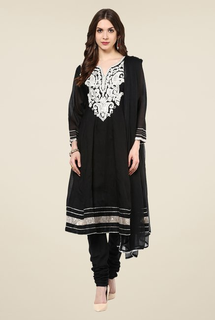 Yepme Rehna Black Salwar Suit Set