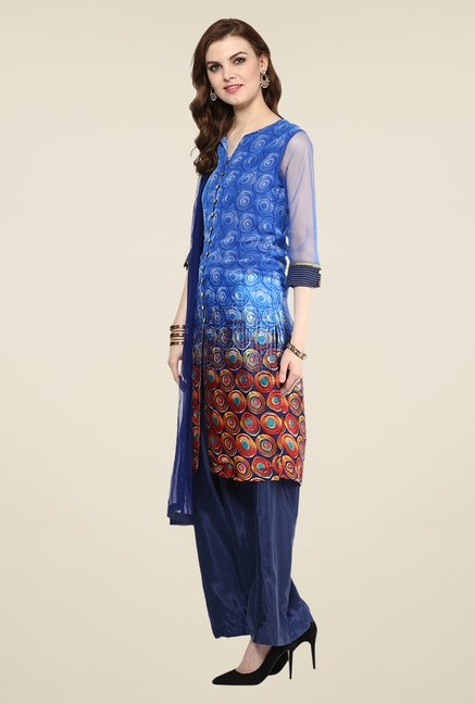 Yepme Flavia Blue Salwar Suit Set