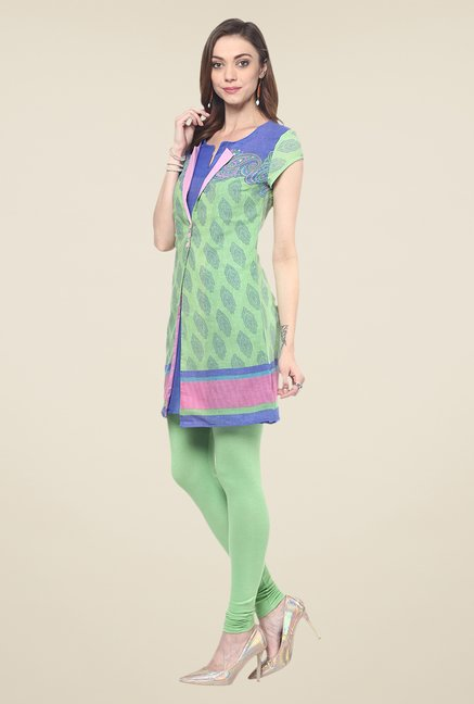 Yepme Reveri Green Salwar Suit Set