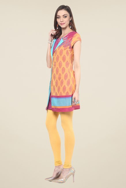 Yepme Reveri Orange Salwar Suit Set