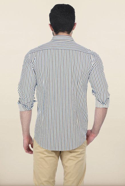 Basics Dress Blues Yarn Dyed Bengal Stripe Slim Fit Shirt