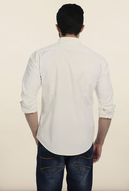 Basics Snow White Oxford Slim Fit Shirt