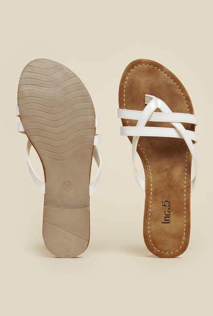 Inc.5 White Casual Sandals