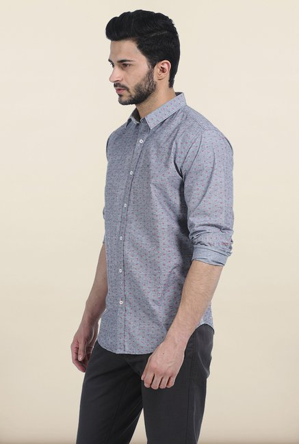 Basics Titanium Printed Fila Fil Slim Fit Shirt