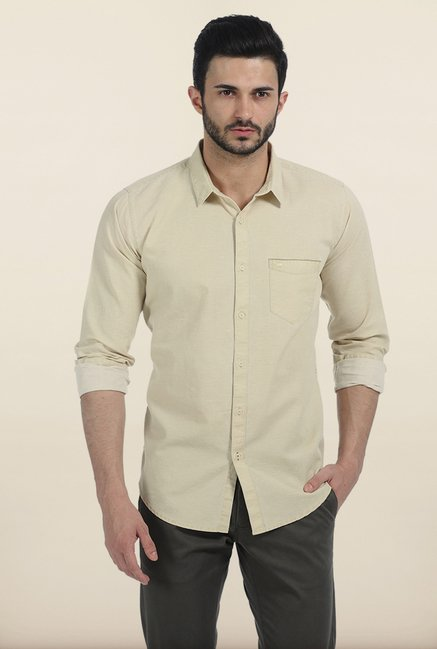 Basics Sahara Sun Slim Fit Shirt