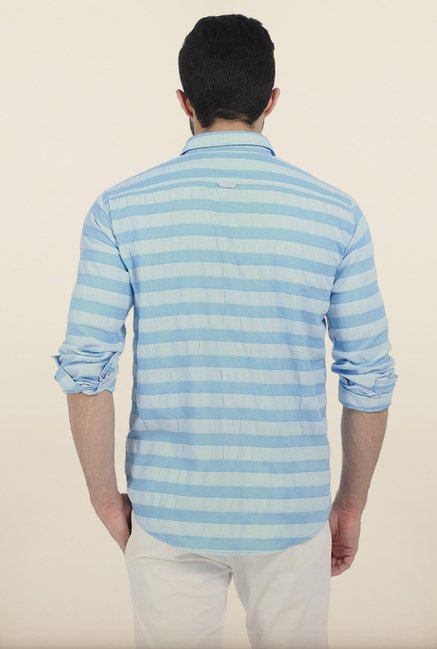 Basics Skyway Weft Striped Slim Fit Shirt