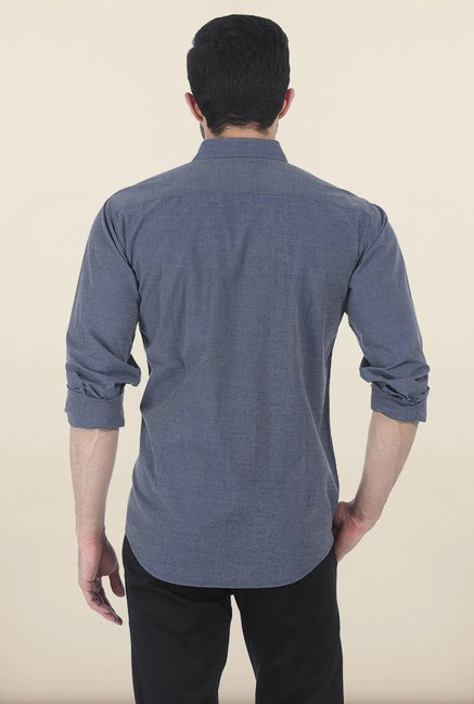 Basics Grey Slim Fit Shirt