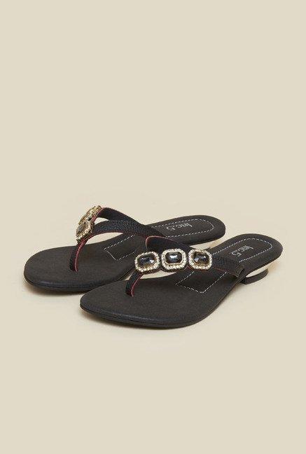 6ce8f82a1ae912 Buy Inc.5 Black Flat Sandals Online at best price at TataCLiQ
