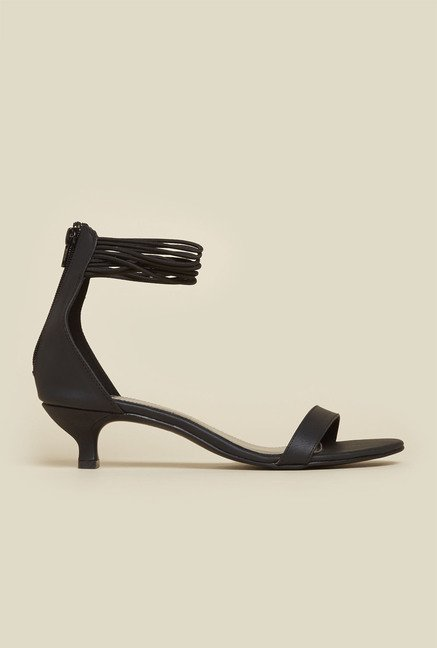 Inc.5 Black Ankle Strap Sandals