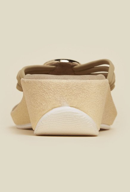 Inc.5 Beige Wedge Sandals