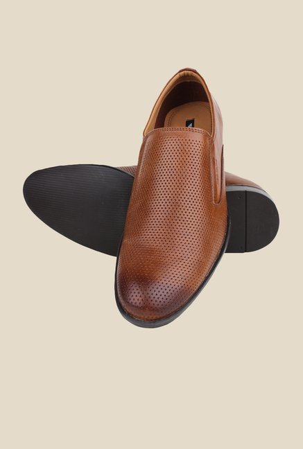 Red Tape Tan Leather Slip-Ons