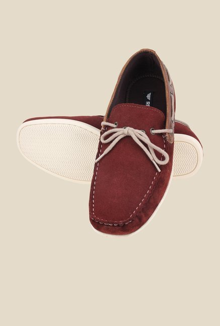 Red Tape Burgundy Boat Shoes