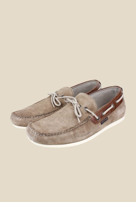 Red Tape Taupe Boat Shoes
