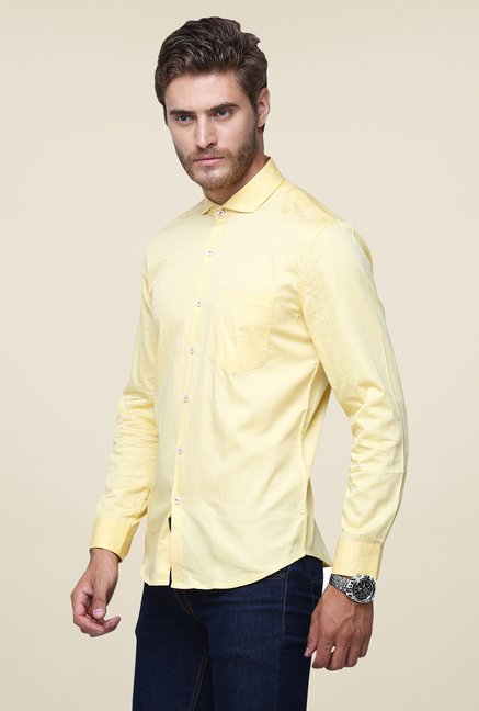 Yepme Yellow Ashten Solid Shirt