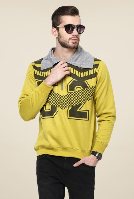 Yepme Green Graphic Print Sweatshirt