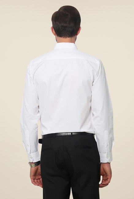 Yepme White Hanfred Premium Solid Shirt