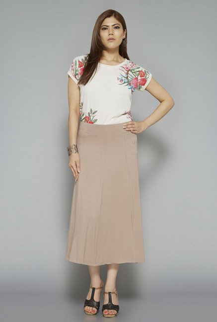 Gia by Westside Taupe Melen Skirt