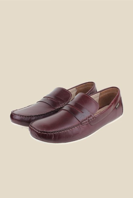 Red Tape Bordo Leather Loafers