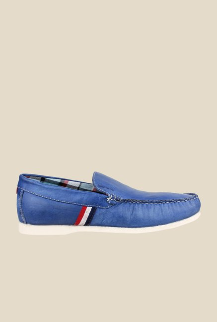 Red Tape Blue Leather Loafers