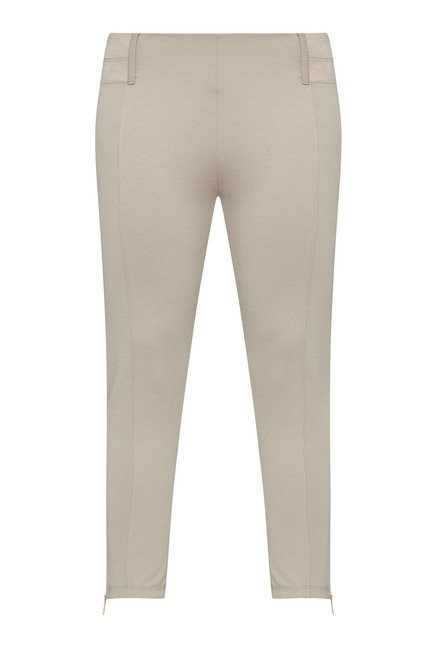 Gia by Westside Beige Solid Trouser
