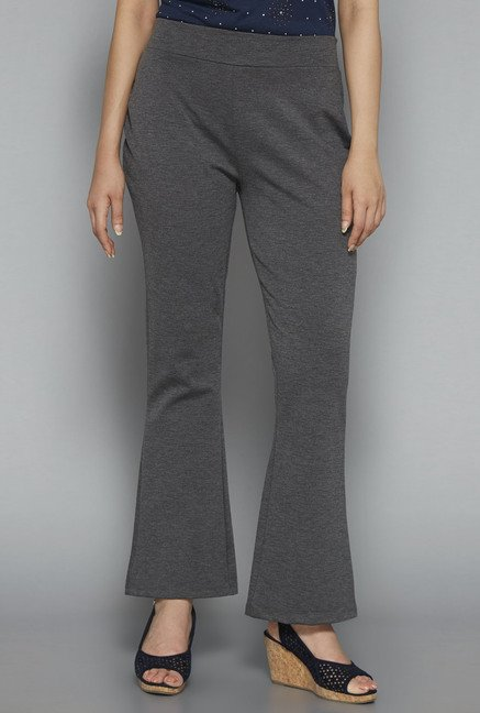 Gia by Westside Grey Solid Trouser