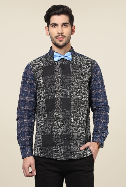 Yepme Black Davin Printed Party Shirt