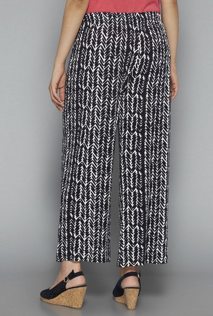Gia by Westside Black Printed Palazzos