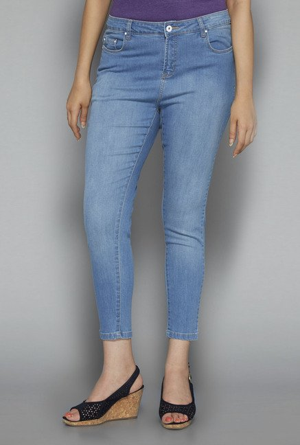 Gia by Westside Light Blue Washed Jeans